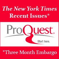 ProQuest Digitized Newspapers: The New York Times Recent